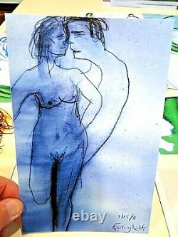 Ferlinghetti ALL SIGNED 17 ART CARDS, LIMITED ED, kerouac, allen ginsberg