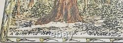 Framed Art Poem TREES by Mattrup Jensen Colma CA 1932 Olivet Cemetery Daly Cty