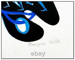 Francoise Gilot Sur La Pierre Poems Color Lithograph Hand Signed Modern Dance