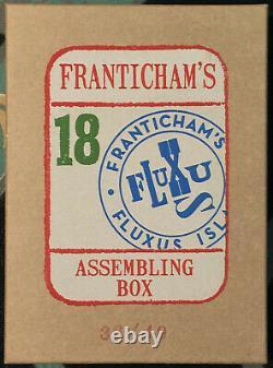 Franticham's Assemblage Box #18 SGND ltd Fluxus collage conceptual art NICE NEW