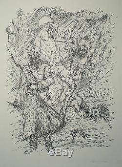 Fritz Cremer zu Alexander Bloks Poem Die Zwölf (WVZ Nr. L357), sign. Litho 1979