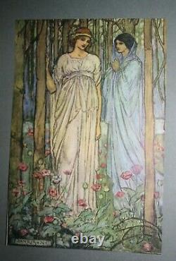 GUINEVERE + Poems 1912 FLORENCE HARRISON 1st Tennyson Art Nouveau Pre-Raphaelite