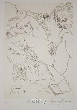 Garry SHEAD'Poem' original signed etching, female muse collectable art nude