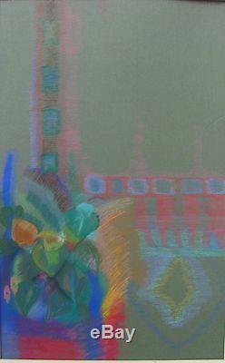Genevieve De Couvreur Blackman Australian Large Pastel A Tone Poem 1987