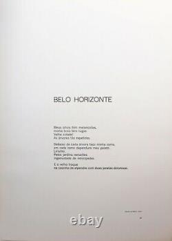 Gravura/Linocut, Beatriz Coelho, Brazil. After poem Carlos Drummond de Andrade