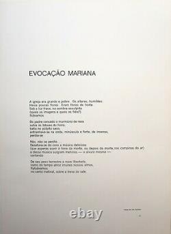 Gravura/Linocut, Julio Espindola, Brazil. After poem Carlos Drummond de Andrade
