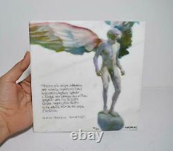 Greek Angel Art Marble Tile TOTSIKAS & GATSOS Amorgos Poem SIGNED Print Stone