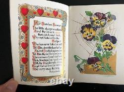 HEARTSEASE, Garden, Floral, Poetry, Whittier, Burroughs, Howitt, Art Publishing