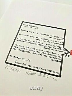HENRI CHOPIN'Klare Eroffnung' signed edition 45/100, 1986, concrete poetry RARE
