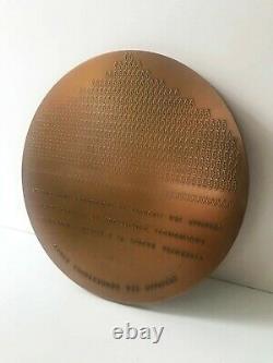HENRI CHOPIN RARE 1988 Bronze Edition'Le Mot D'or' Concrete/Visual Poetry