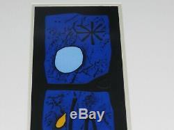 Haku Maki 1924-2000 Poem Woodblock Print Pencil Signed Framed sosaku hanga