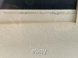 Haku Maki (1924-2000) original woodblock Poem Series #2 21/154 1970 23.5 x 12.5