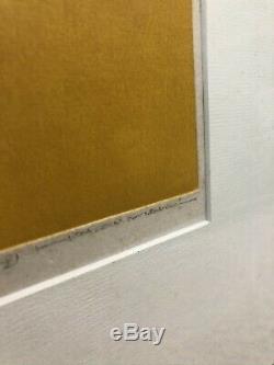 Haku Maki Japanese Abstract Original Woodblock Print Poem 70-61 #107/153