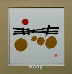 Haku Maki Japanese Woodblock Print POEM-3 ed. 777 Signed