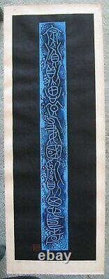 Haku Maki Poem 70 12 GORGEOUS Early Embossed Print