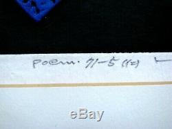 Haku Maki Poem 71-5 (Trust) Beautifully Embossed Early Woodblock