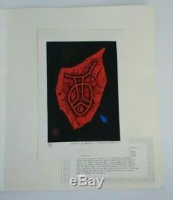 Haku Maki Wine Poem 71-58 Signed Intaglio Print #78 / 157 SEE DESCRIPTION