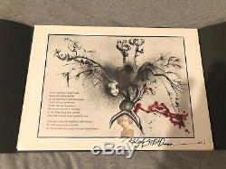 Hand Signed Ralph Steadman Print and Poem