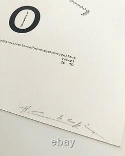 Henri Chopin Rare 1973 Signed Print'altmann' 4/50 Concrete Poetry Tate Moma Ica