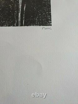 Henry Moore Signed & Numbered Lithograph Split Stone 1973 Auden Poems
