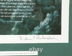 High Flight & Poem On Laughter Silvered Wings Keith Ferris Signed Don Blakselee