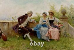 High quality oil painting handpainted on canvas The Poem
