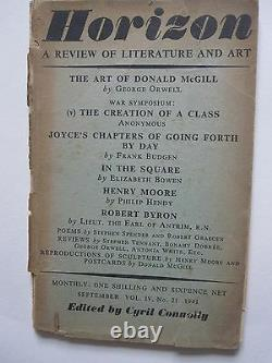 Horizon. Sept. 1941. The Art of Donald McGill by George Orwell. Poems by Spender