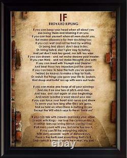 If Poem by Rudyard Kipling Framed Poster Picture Print Motivational Wall Art