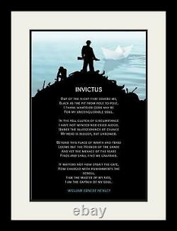 Invictus Poem by William Motivational Poster Print Picture or Framed Wall Art