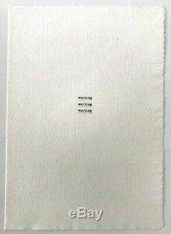 JIRI VALOCH'Waiting.' RARE signed edition, 1985, concrete / visual poetry