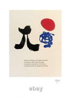 JOAN MIRO Illustrated Poems-Parler Seul VIII 23.5 x 17.75 Lithograph 2004