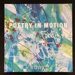 JONONE Dessin Original au Feutre Livre Poetry in Motion Street Art Peinture 2019