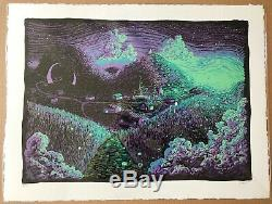 James R. Eads Screen print Early Days Lavender Moon Edition #16/40 with poem