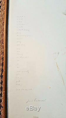 Joni Pienkowski Mixed Media Art Work Framed (41 x 31 HEAVY), Signed 2/Poem