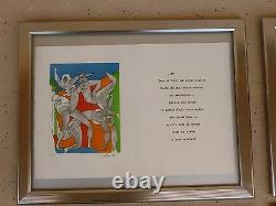 Le Cirque Sacre By Alfred Pellan And Claude Peloquin, 6 Lithographs W Poetry