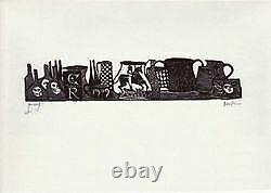 Leonard Baskin / Poem Called The Tunning Of Elynour Rummynge print Signed