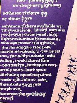 Lot Alan Ginsberg Broadside + Yoga of Joy Flyer 1971, Bhajan, Carlebach