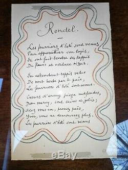 MATISSE poem page 67 Rondel fleur de lis Poems of Charles d'Orleans 1950 ART
