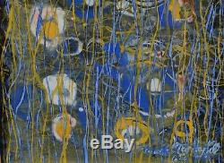 Mark Turbyfill Abstract Painting Flowers US Chicago Listed Artist 1896-1991