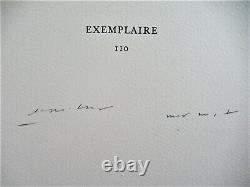 Max Ernst Dent Prompte Poem De Rene Char No. IV Lithograph 1969 Free Ship Us