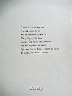 Max Ernst Dent Prompte Poem De Rene Char No. IX Lithograph 1969 Free Ship Us
