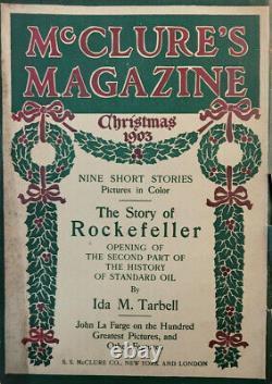 McClure's Dec 1903 Vtg Antique Magazine Christmas Story Rockefeller Standard Oil