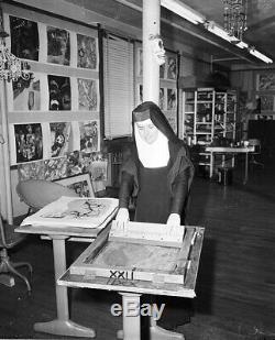 Mid Century Original Signed Sister Mary Corita Kent Serigraph ee Cummings Poem