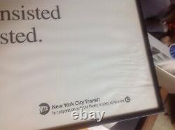 NYC Transit Poetry In Motion Poster, Framed, 1992, Thom Gunn, See Desc