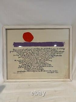 ORIGINAL 1987 ARTIST SIGNED & Numbered Serigraph Poetry by Akira Togawa c679