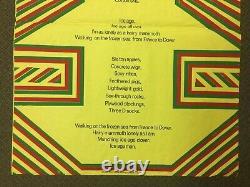 Original 1966 Pop Song Christopher Logue Poster Poem Screenprint DEREK BOSHIER
