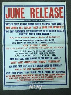 Original June Release Christopher Logue Poster Poem Screenprint Art Poster