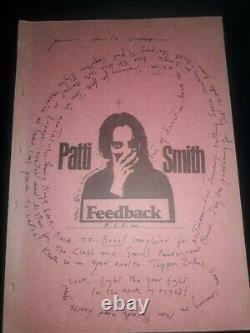 PATTI SMITH fanzine FEEDBACK HORSES MAPPLETHORPE POEMS ART LYRICS 1977 LP