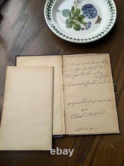 POPPY Rare POESIE Art NOUVEAU Poetry Hand Written Journal Book 1912 Hand Written