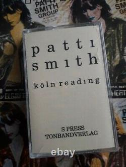 Patti Smith Art Book Poetry Tape 1977 Punk Lp 7 Concert Poster Mapplethorpe Ny